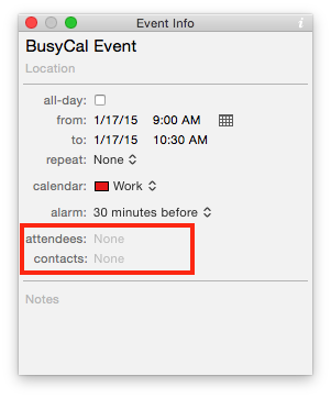 attendee/contacts