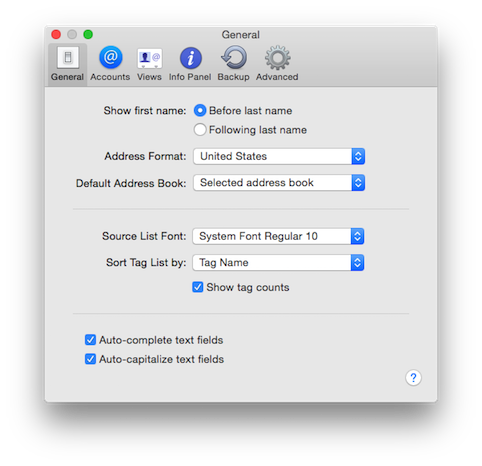 BusyContacts Mac - Preferences
