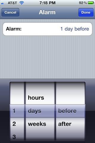 Busytodo Alarm Relative