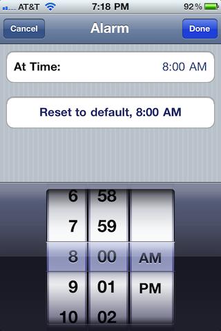 Busytodo Alarm Time