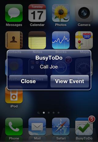 Busytodo Iphone Alarm