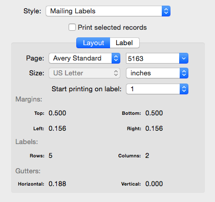 busycontacts mac printing envelopes and mailing labels