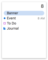 Banner, Event, To Do, Journal