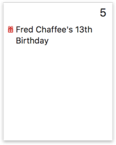 Calendar with birthday