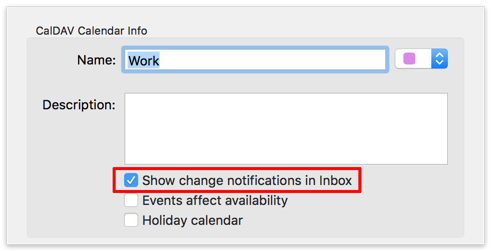 Show change notifications in Inbox