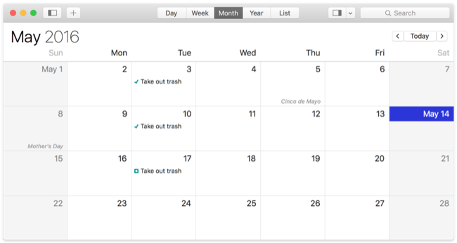 Repeating Events on Calendar