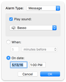 Custom alarm type