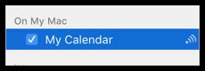 Published calendar in sidebar