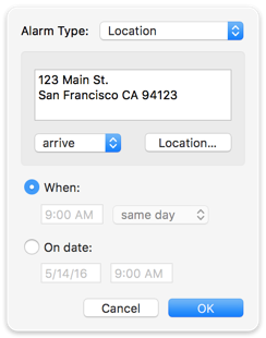 Location Alarm Type