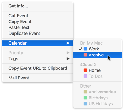 Move events to Archive