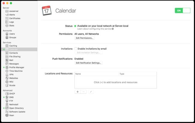 OS X Server Calendar setup