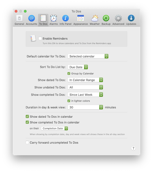Syncing With Reminders