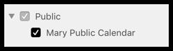 Public calendar in sidebar