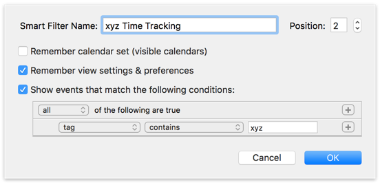 Smart Filter for Time Tracking