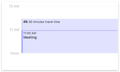 Travel Time Blocked on Calendar