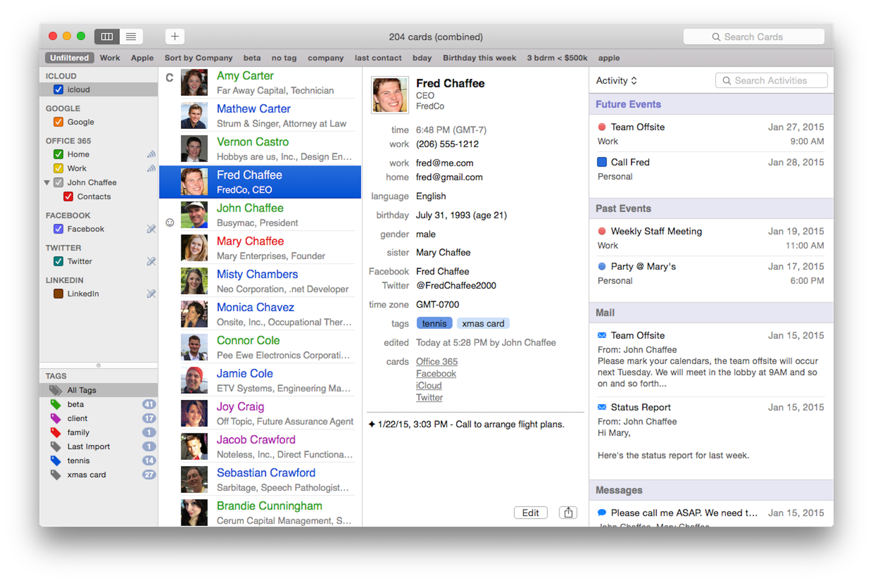 BusyContacts - The Best Contact Manager App for Mac